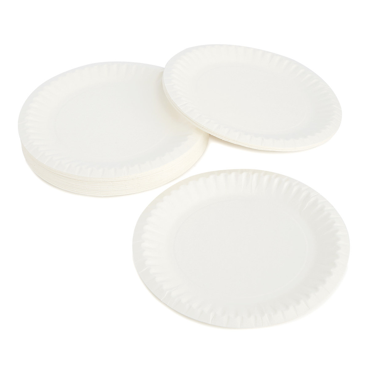 9 Inch White Paper Plate