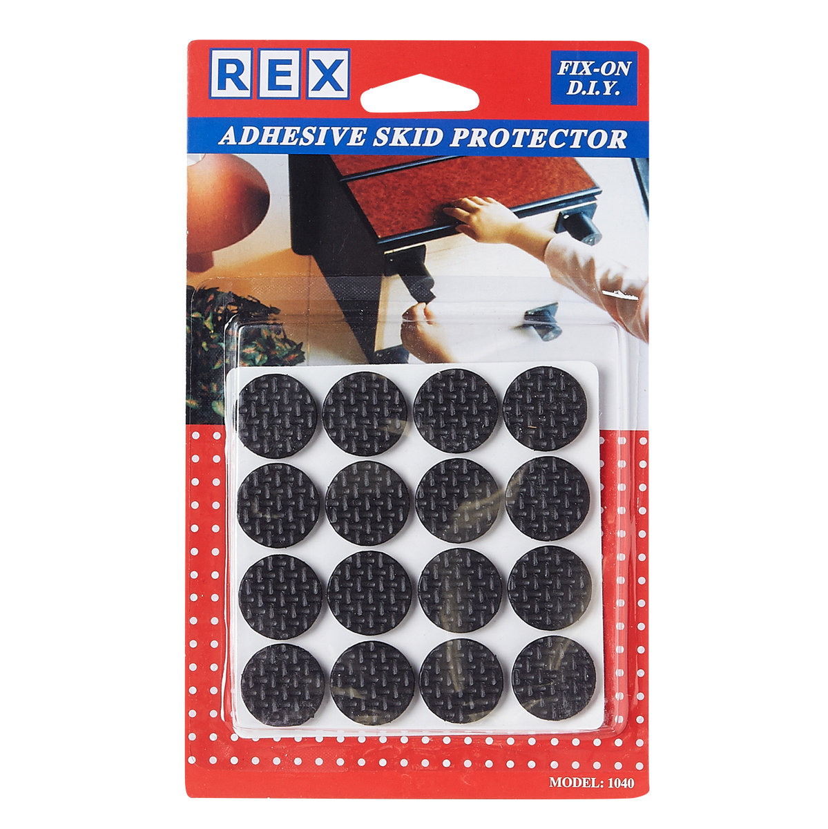 Rubber Skid Round Disc 22mm (16PCS)