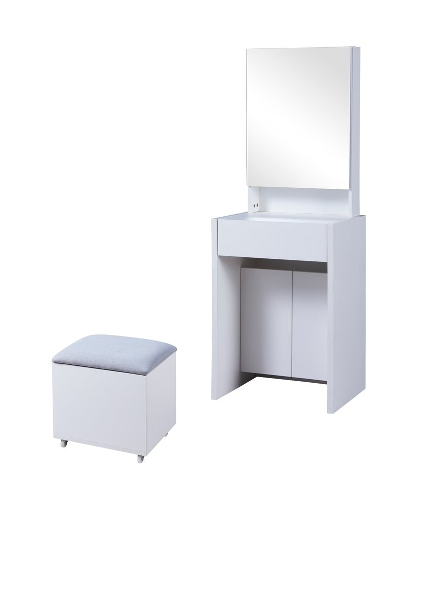 Ivory 21 inch dressing table with chair