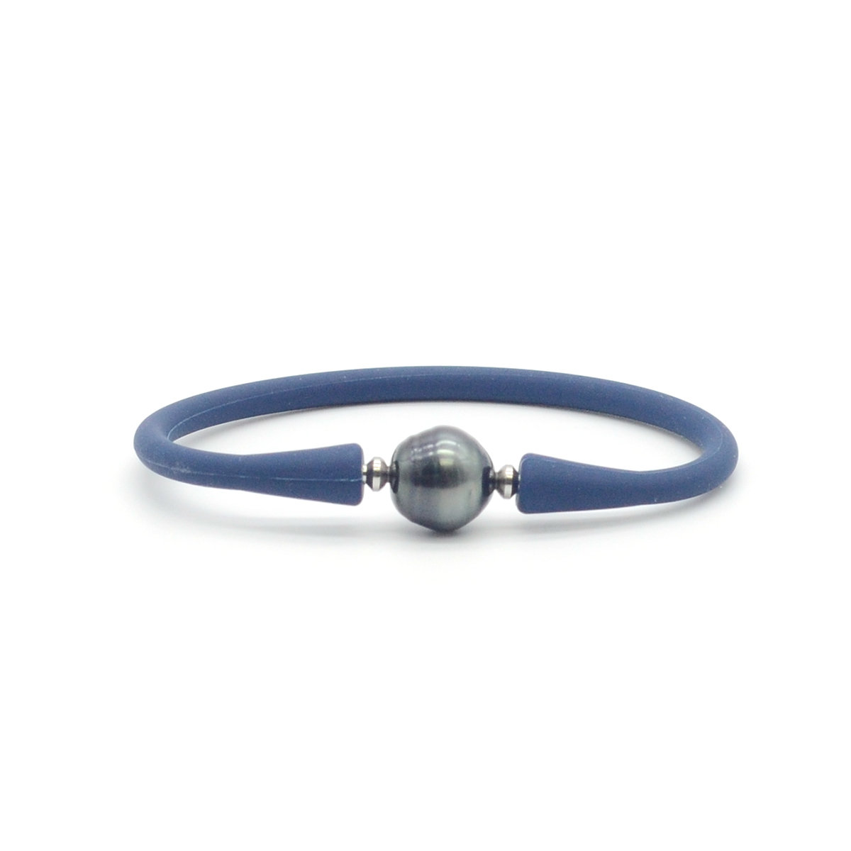 11-12mm Tahitian Pearl with silicone bracelet