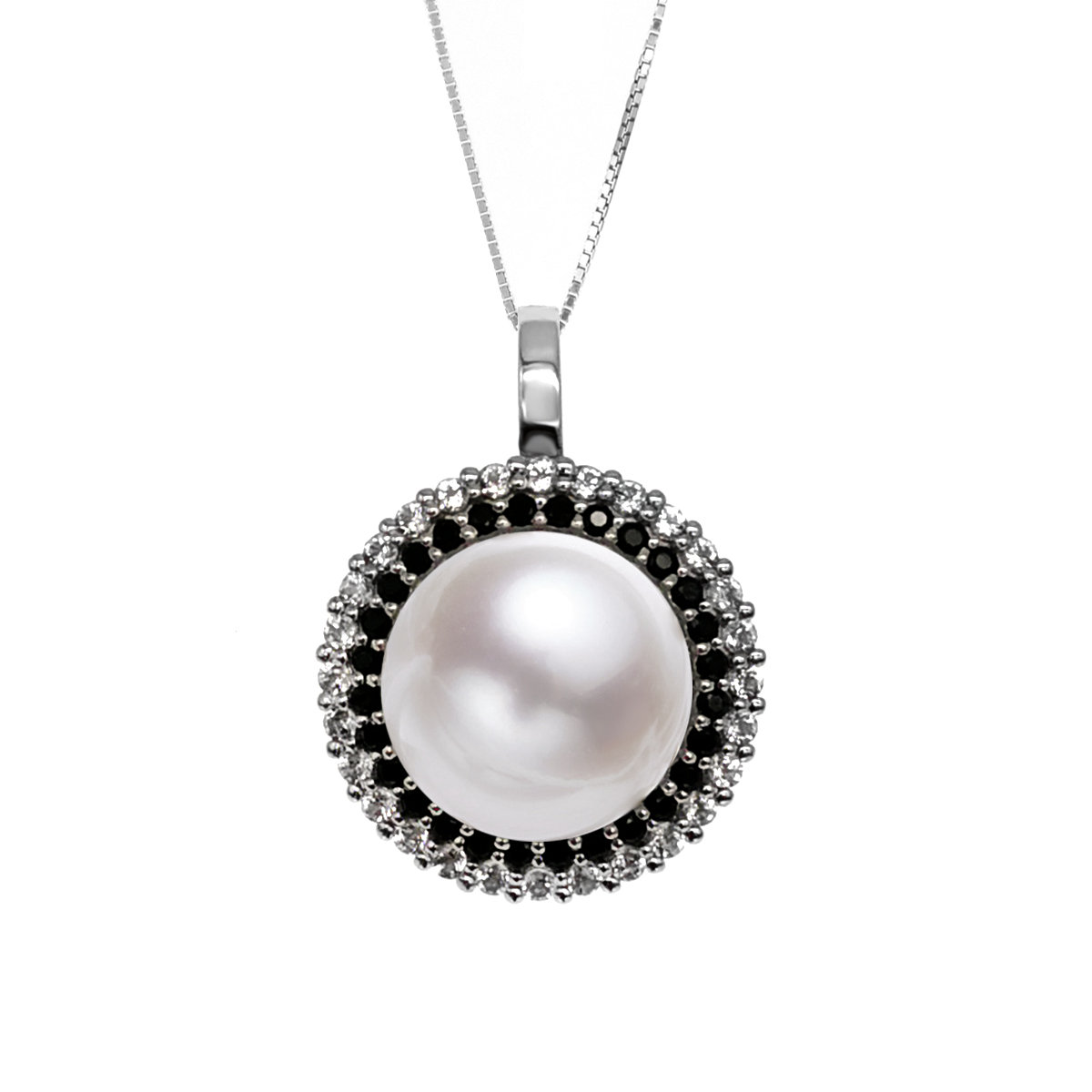 14-15mm Round  Cultured fresh water pearl Pendant