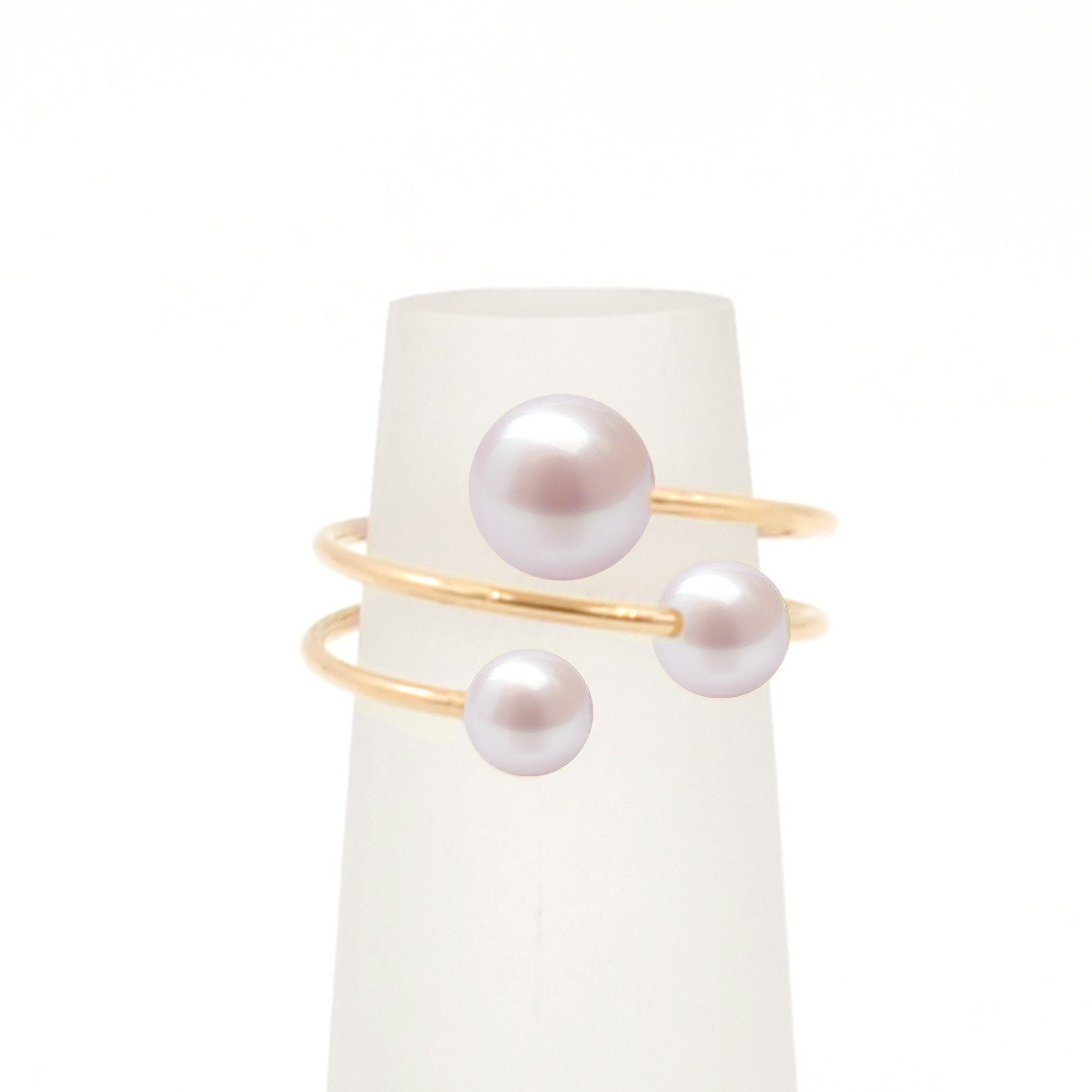 bubble ring-14K Gold Filled wire with cultured fresh water pearl ring
