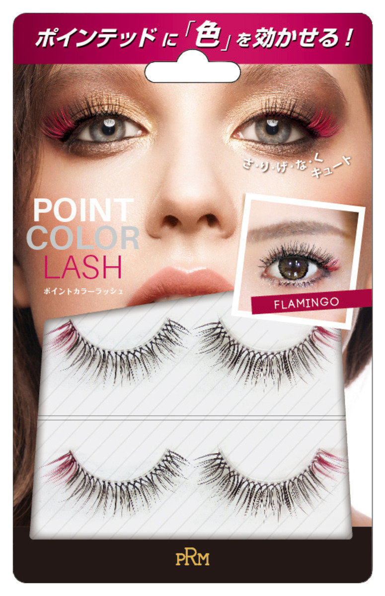 Point-Colored Eyelash Red