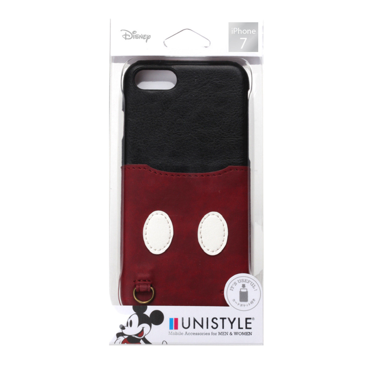 iPhone 7 / iPhone 8 Disney Mickey Card Pocket Phone Case HKDCS441MKY