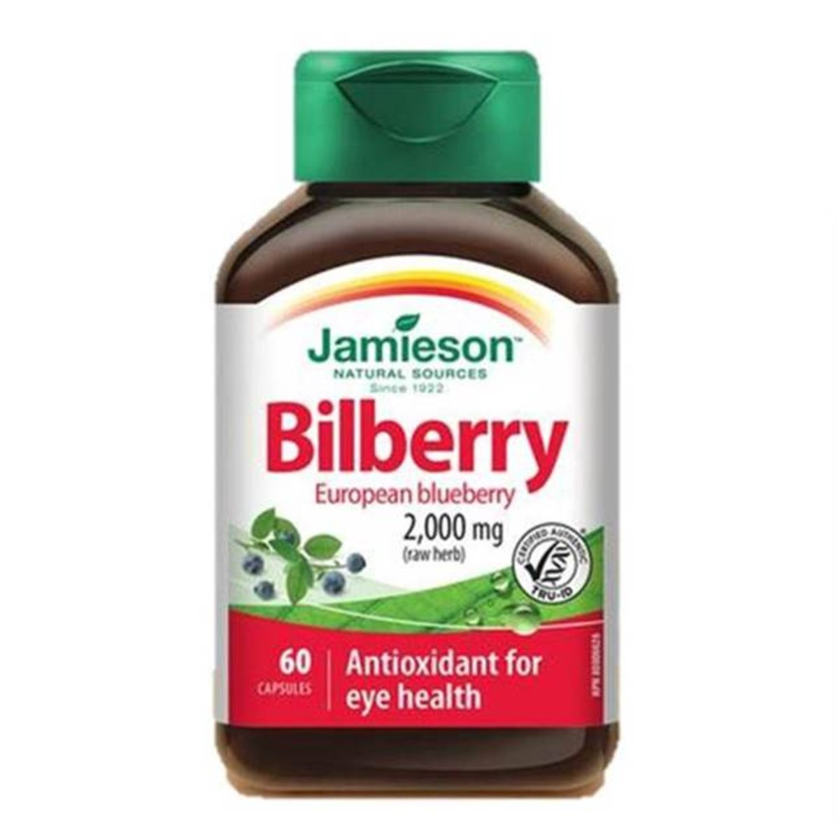 Bilberry (European Blueberry) (2000 mg) 60 capsules