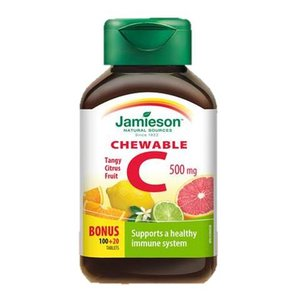 Jamieson 維他命 C 咀嚼片 (500 毫克) 西柚味 120 粒 120 粒咀嚼片