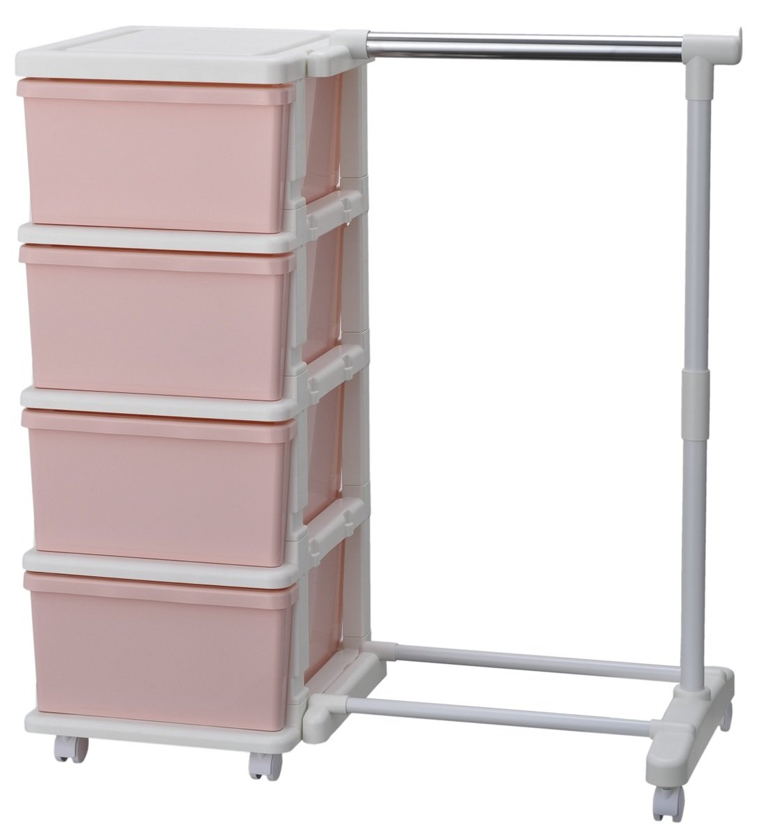 Seeds Unit Self-assembly Jointable 4-tier Cabinet with Hanger(482004)
