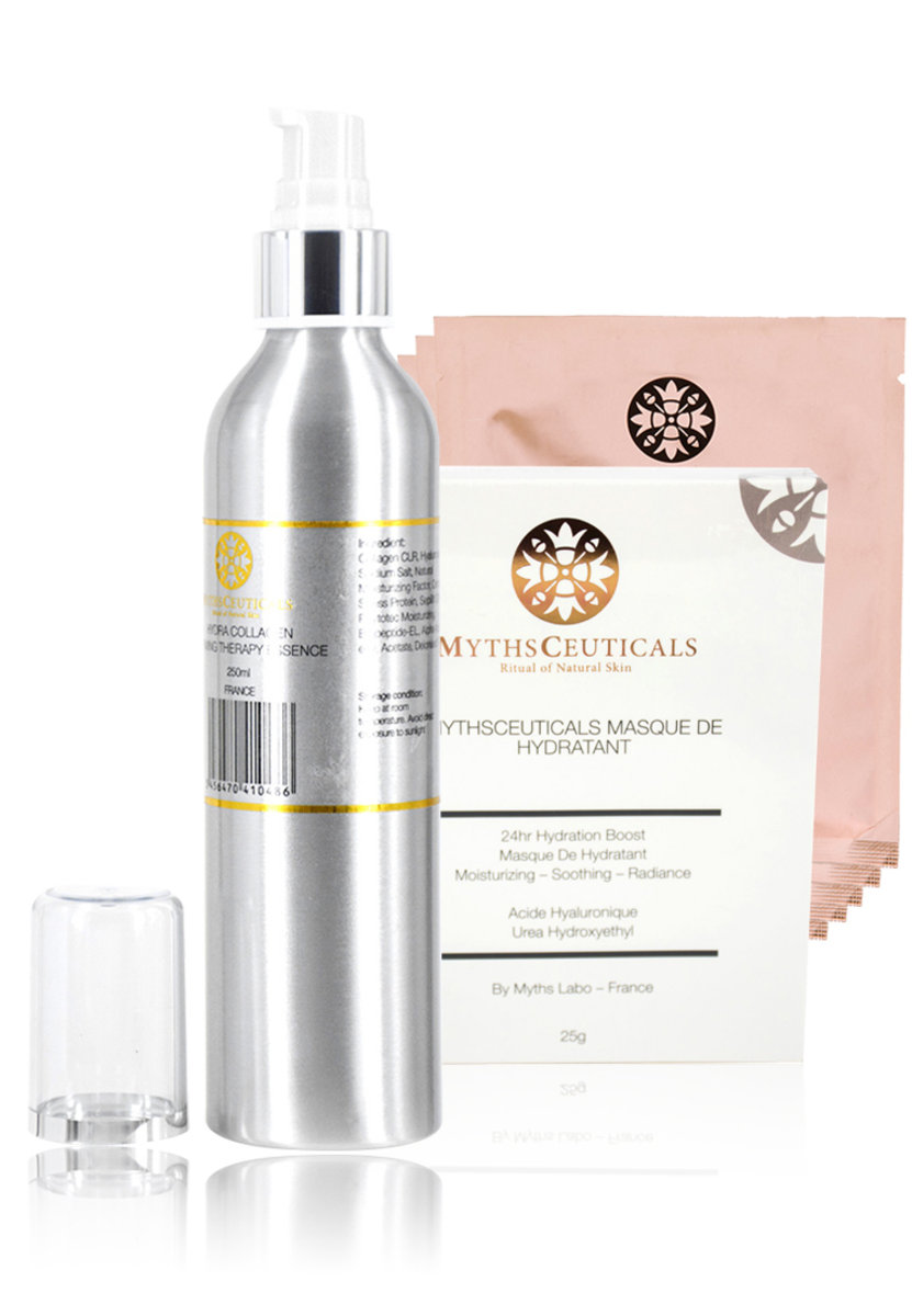 MC Nerve System Naturaltherapy Set ( Extral Large HYDRA COLLAGEN FIRMING THERAPY ESSENCE / 24HR MASQ