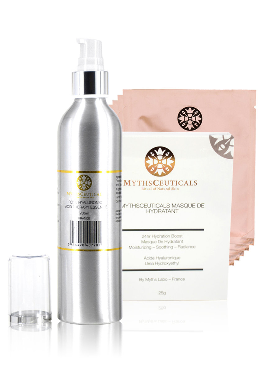MC Nerve System Naturaltherapy Set ( Extral Large ROSE HYALURONIC ACID THERAPY ESSENCE / 24HR MASQUE