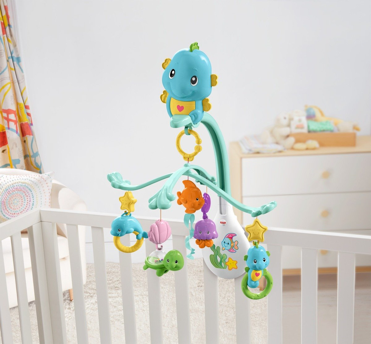 3-in-1 Soothe & Play Seahorse Mobile