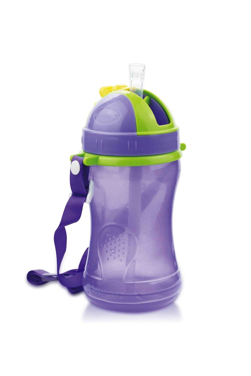 Babisil Drinking Bottle with Straw (360ml) - Purple