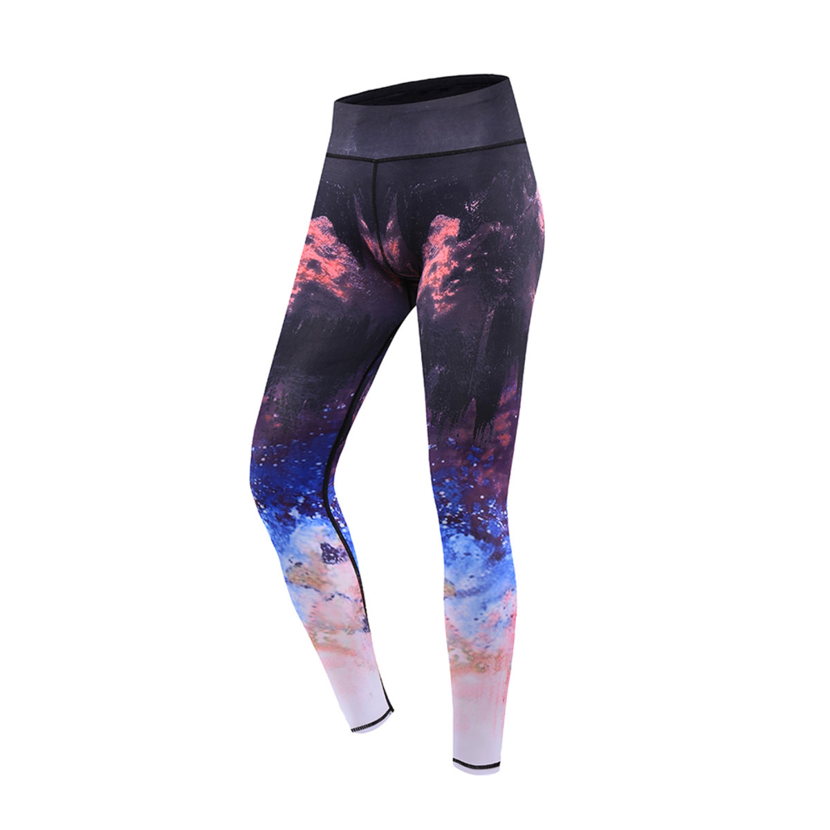 Galaxy Print High Rise Yoga Sports Leggings