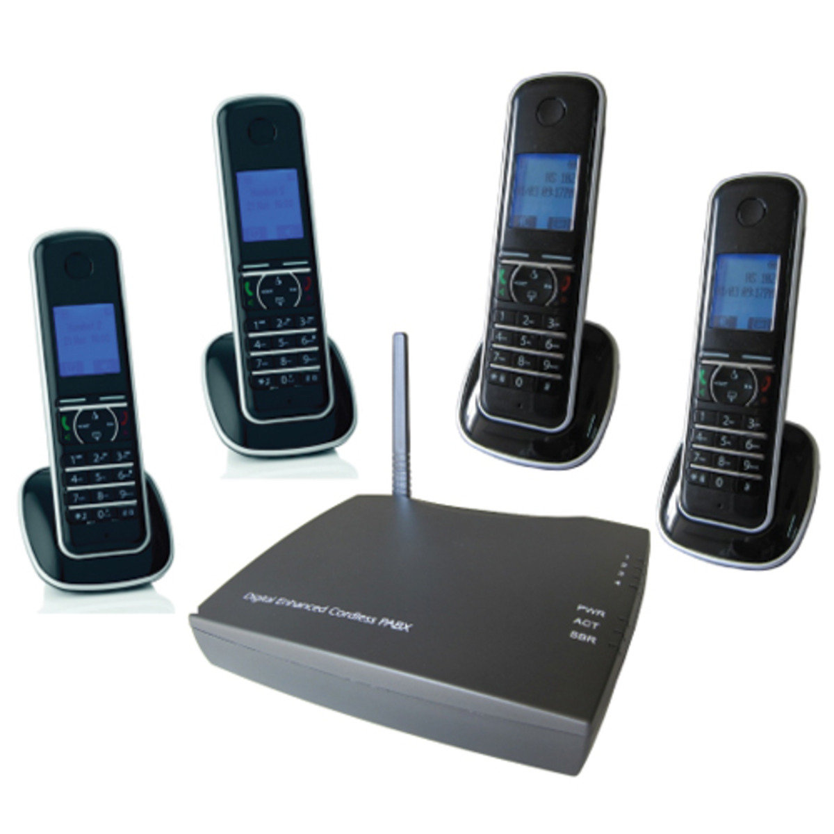 UT200-4HS Digital Cordless Phone Systems (includes 4 Digital Telephone Handsets)