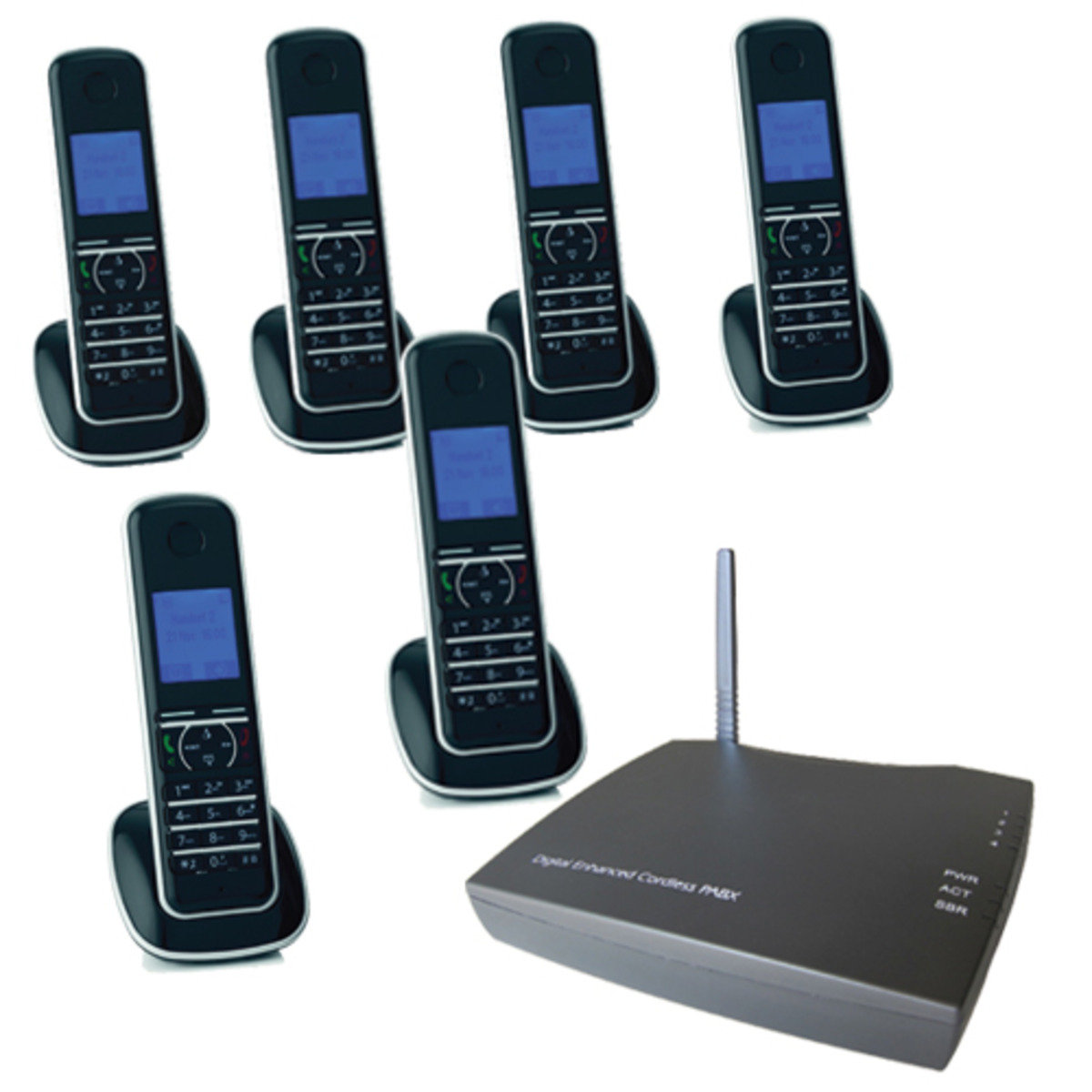 UT300-6HS Digital Cordless Phone Systems (includes 6 Digital Telephone Handsets)