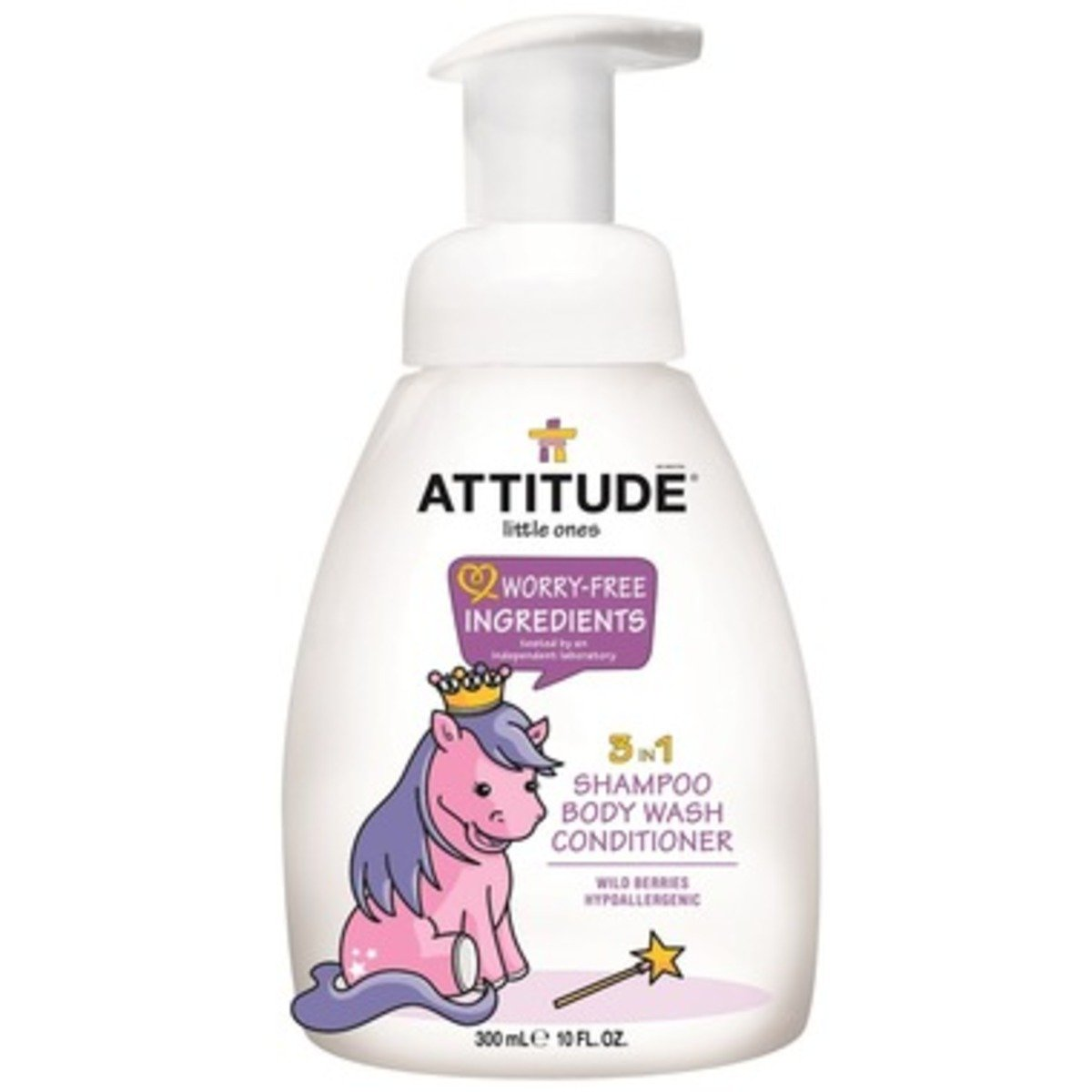 Attitude Little Ones 3 In 1 Shampoo Body Wash Conditioner Wild 130 Ml Berries 300