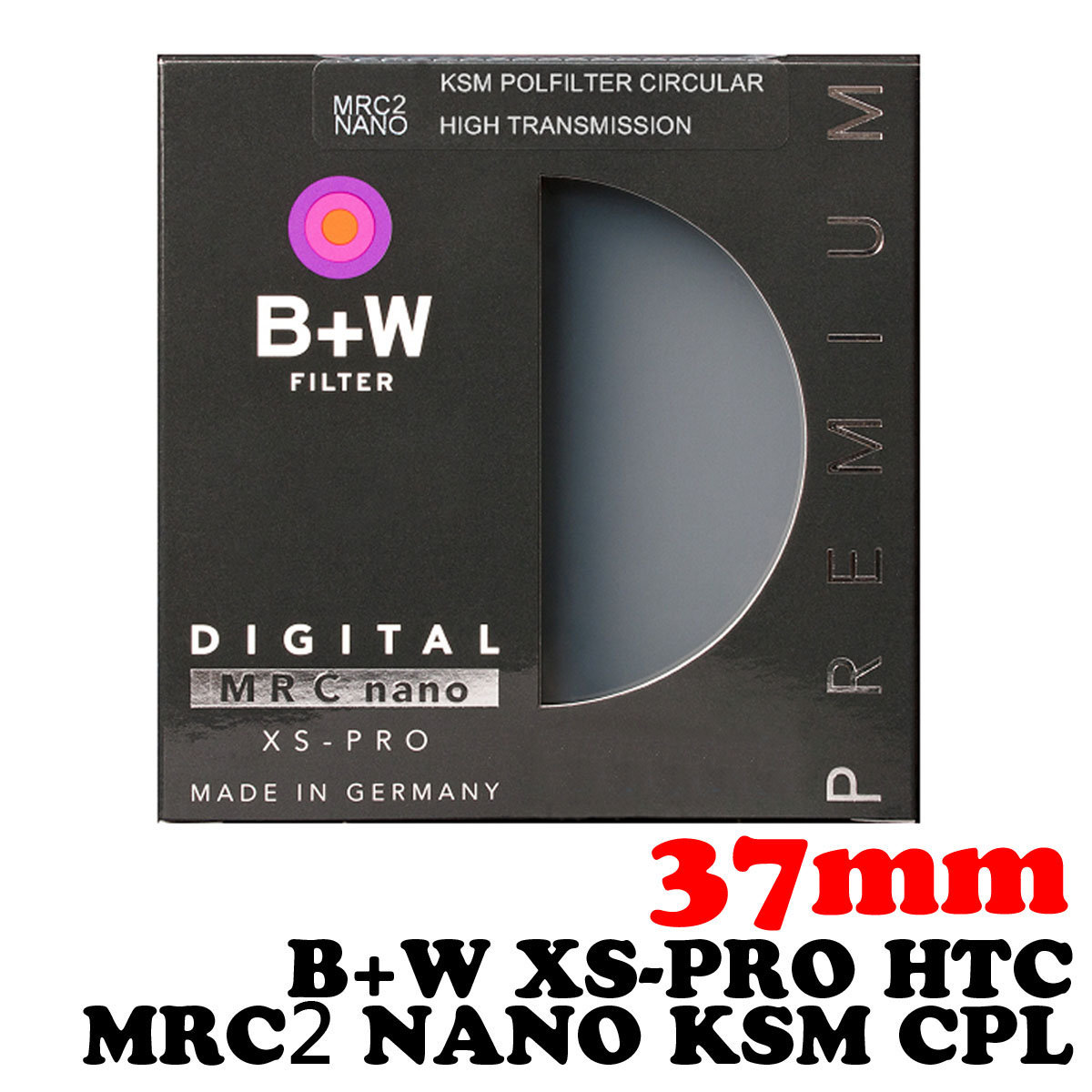37mm XS-Pro HTC KSM MRC2 Nano CPL Slim Filter High Transmission Circular Polarizer
