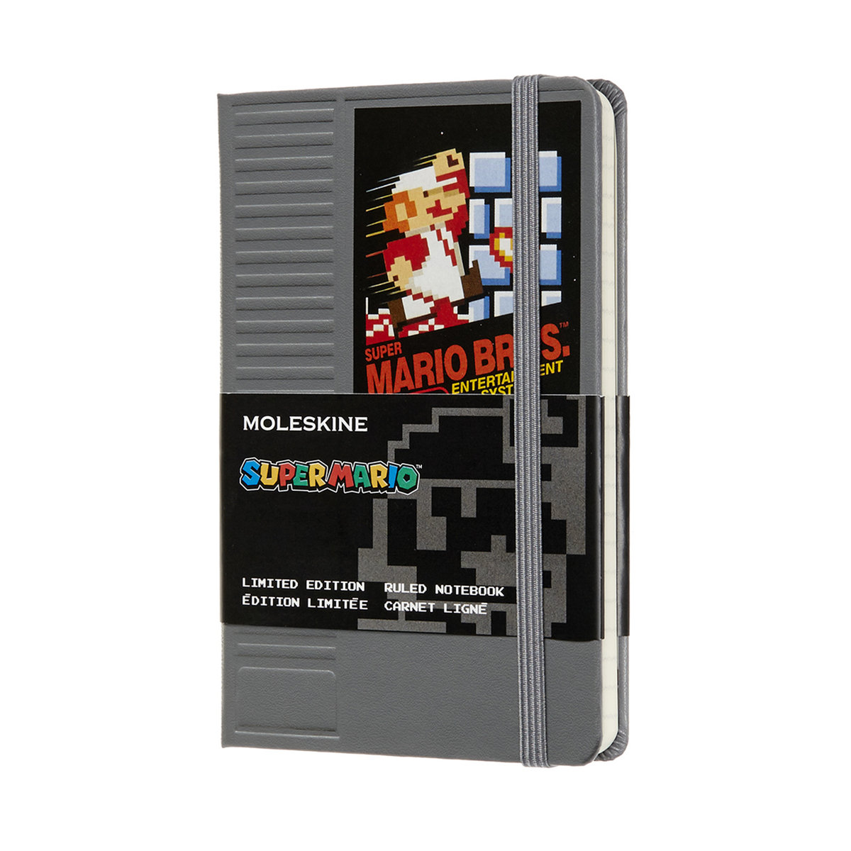 Limited Edition Notebook Super Mario Pocket Ruled NES Cartridge