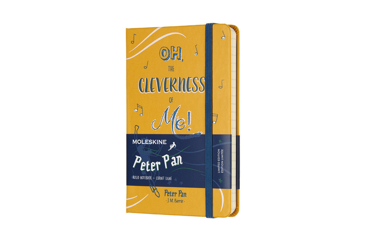 Moleskine Limited Edition Notebook Peter Pan Pocket Ruled Peter Orange Yellow