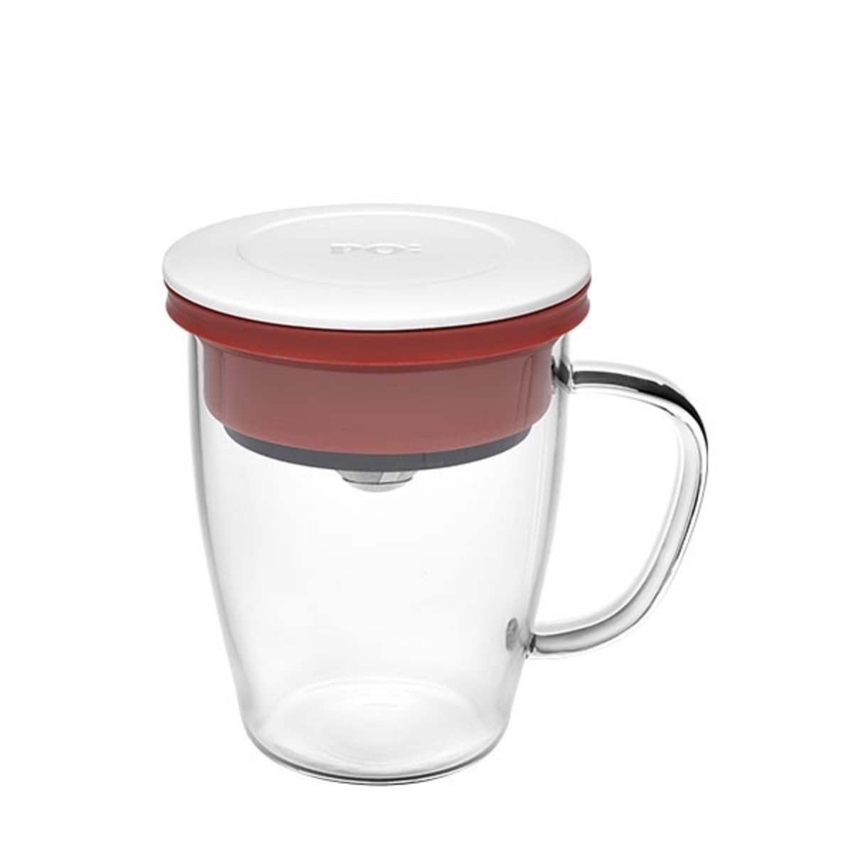 Duo Dripper Mug (White Lid with Red Ring)(14780)
