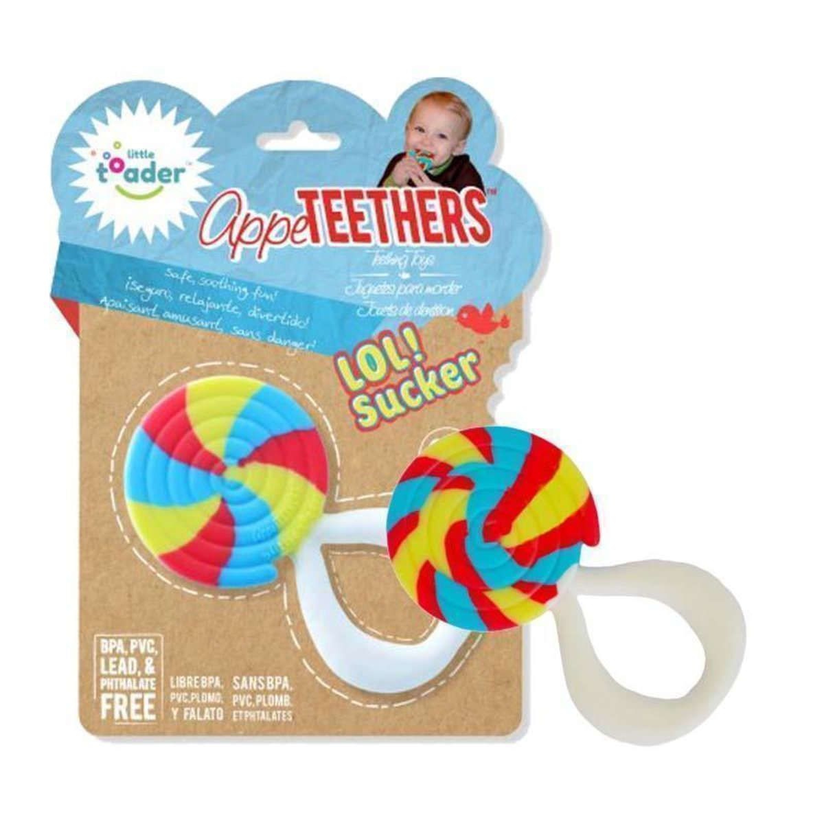 Little toader 3D appeTEETHERS Teething Toys - LOL! Sucker