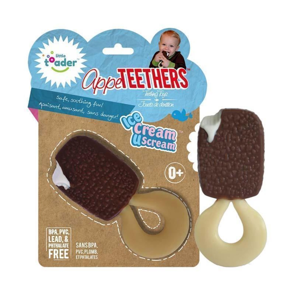 Little toader 3D appeTEETHERS Teething Toys - Ice Cream U Scream