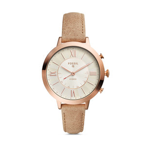 Fossil Jacqueline ThreeHand Pastel Pink Leather Watch and Jewelry