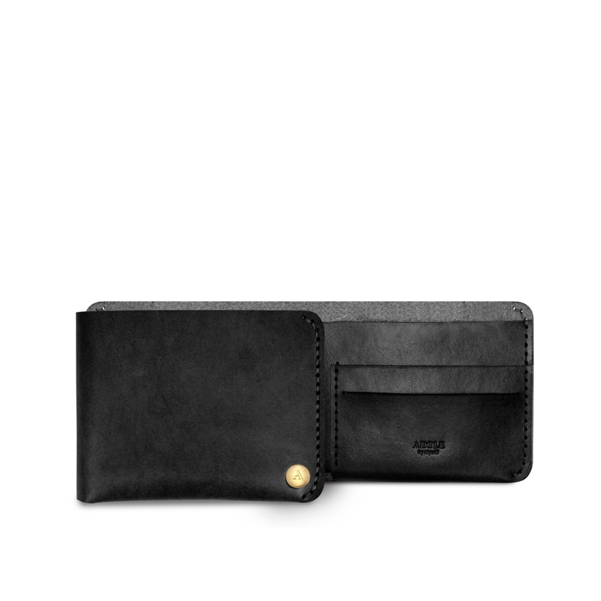 Leather Hand-made DIY kit - Wallet/Purse - Black