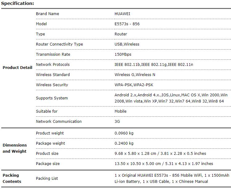 Huawei | HK warranty E5573s-856 4G Mobile Pocket WiFi Router LTE