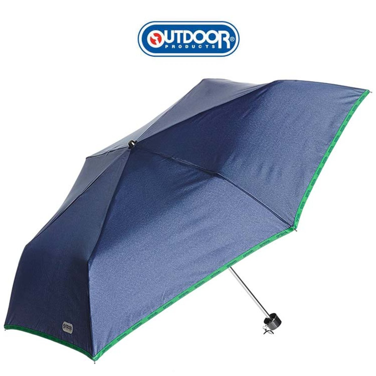 Folding Umbrella  (Navy withLight Green Side)