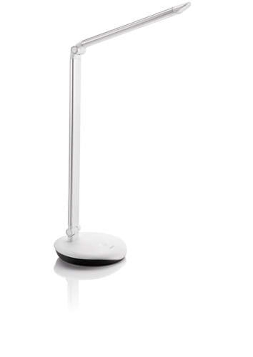 72007 Lever LED Table Lamp - Silver