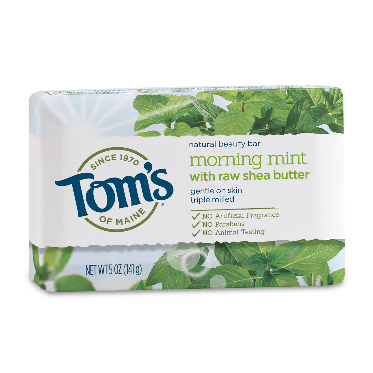TOM`S OF MAINE Natural Beauty Bar Morning Mint 5oz(Parallel Import)