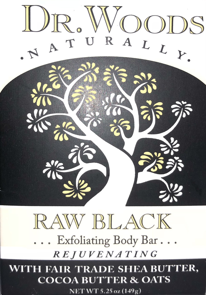 DR. WOODS Raw Black Soap 5.25oz(Parallel Import)
