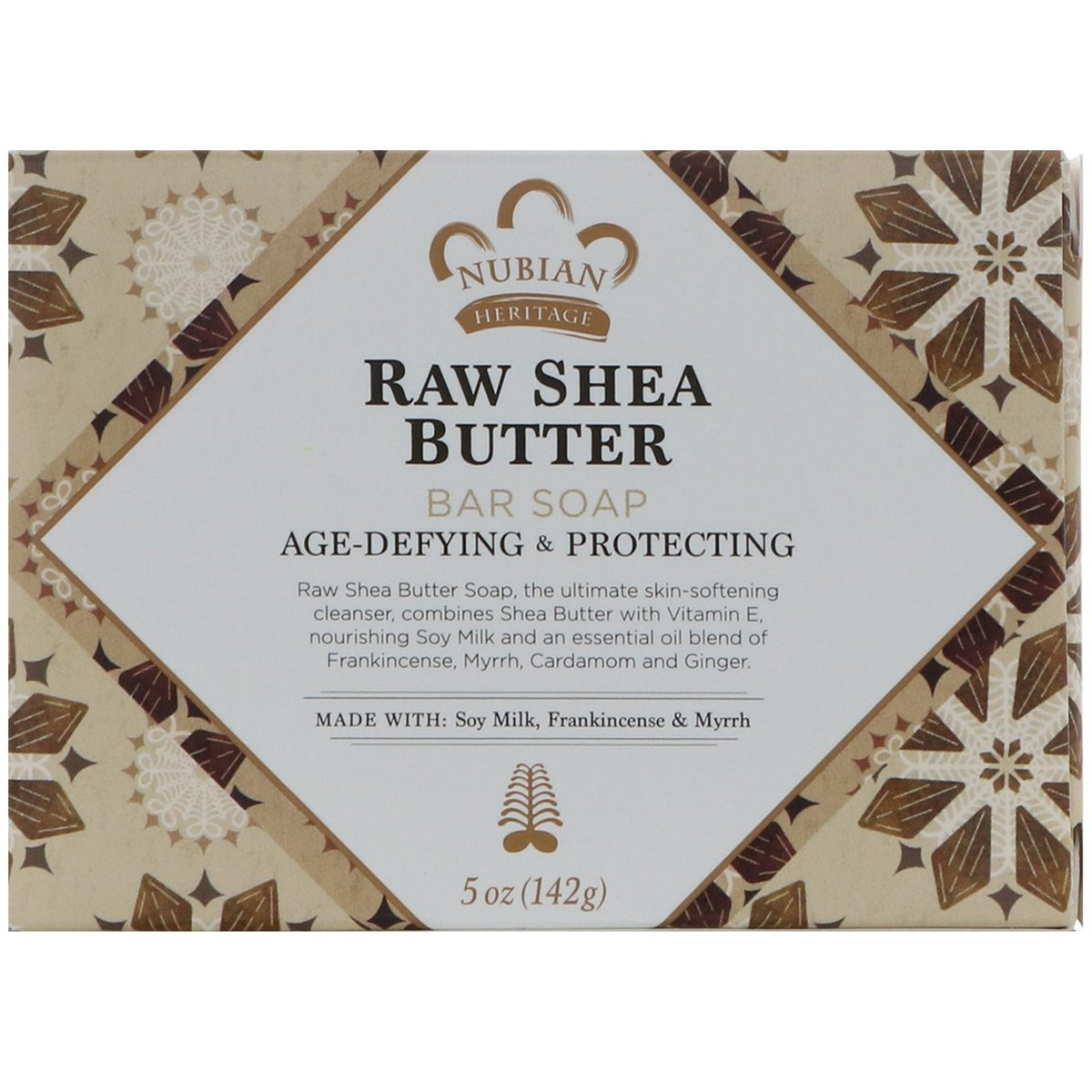 NUBIAN HERITAGE Raw Shea Butter Soap 5oz(Parallel Import)