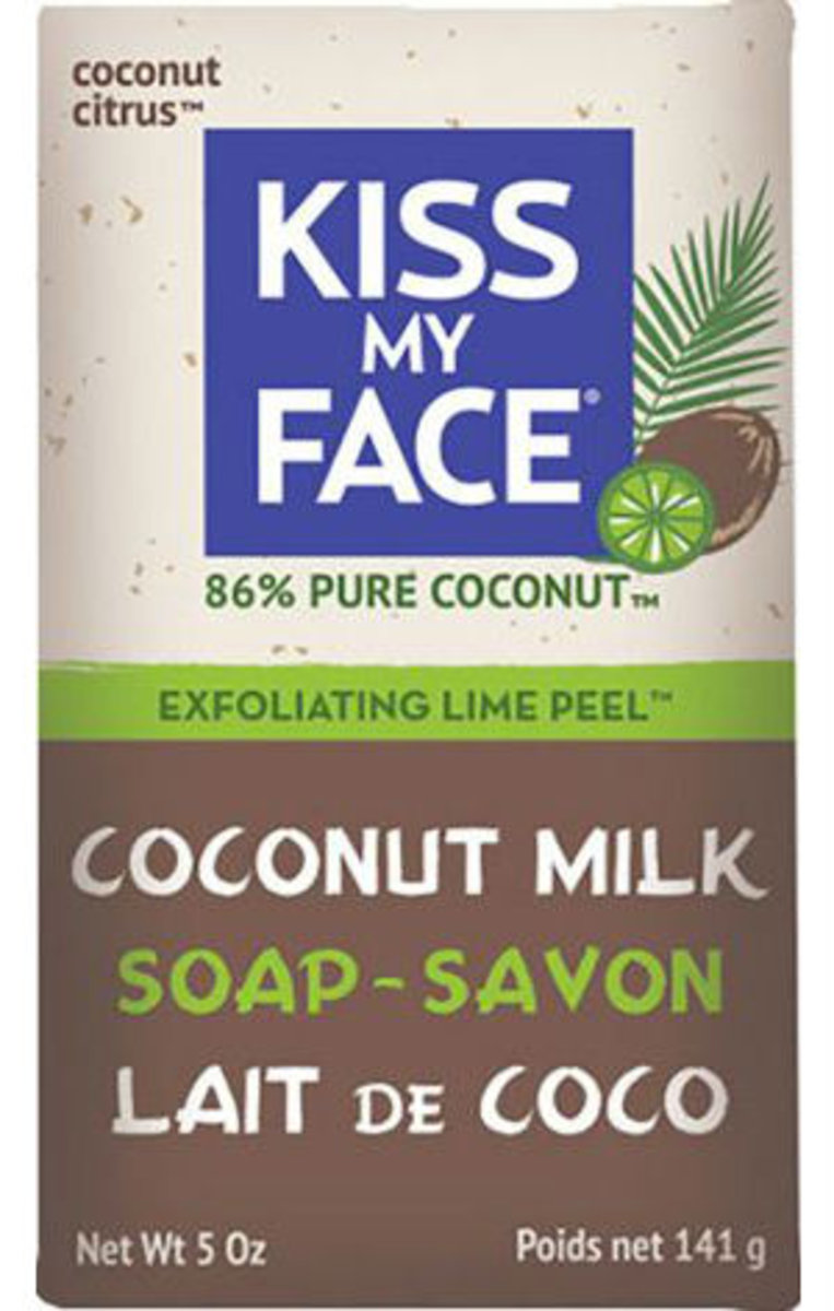KISS MY FACE Coconut Milk & Lime Peel Soap 5oz(Parallel Import)