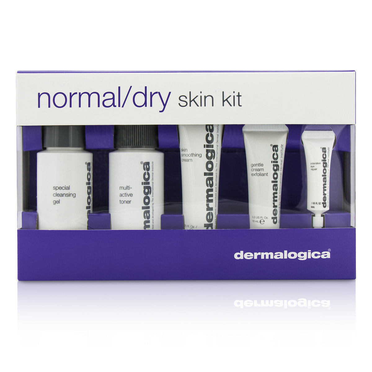 Normal/ Dry Skin Kit: Cleanser + Toner + Smoothing Cream + Exfoliant + Eye Reapir  -[Parallel Import Product]