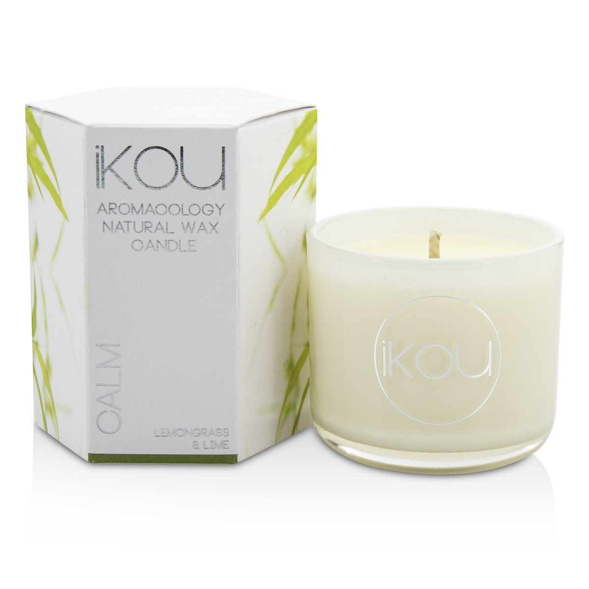 Eco-Luxury Aromacology Natural Wax Candle Glass - Calm (Lemongrass & Lime)  -[Parallel Import Product]