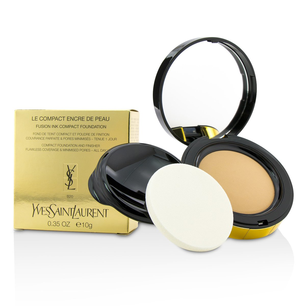 Le Compact Encre De Peau Fusion Ink Compact Foundation - # B20  -[Parallel Import Product]