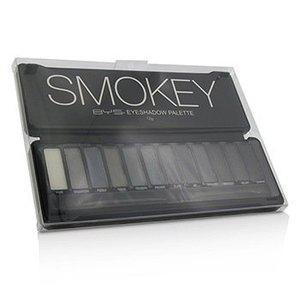 BYS 眼影盤 (12x 眼影, 2x 眼影刷) - Smokey -[平行進口]