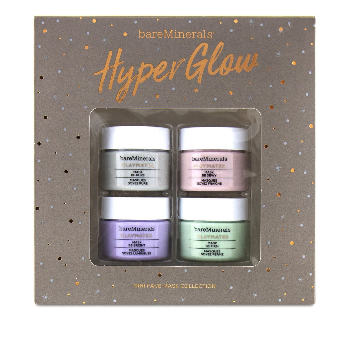 Hyper Glow Mini Face Mask Collection: Claymates Mask (1x Be Pure 15g, 1x Be Dewy 15g, 1x Be Bright 1