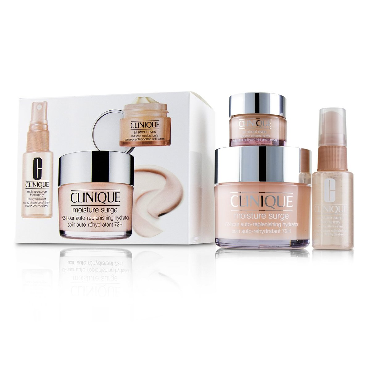 Moisture Surge Set: Moisture Surge 72-Hr 125ml+ All About Eyes 15ml + Moisture Surge Face Spray Thir