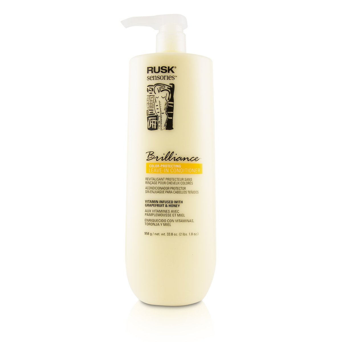 Sensories Brilliance Color-Protecting Leave-In Conditioner (Vitamin Infused with Grapefruit & Honey)