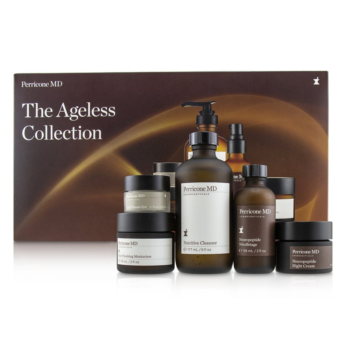 The Ageless Collection: Nutritive Cleanser+Face Finish Moisturizer+Neuropeptide Night Cream+Cold Pla