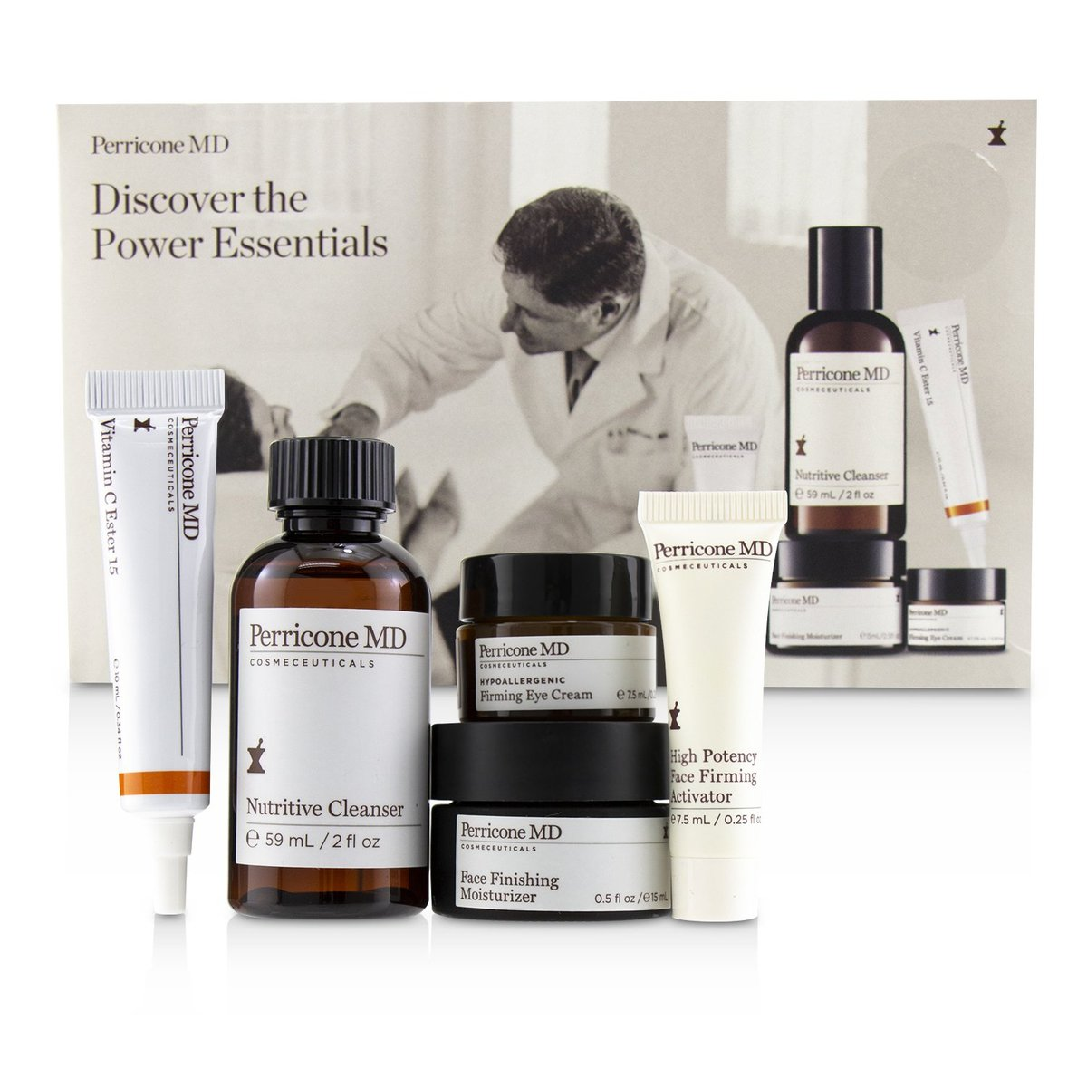 Discover The Power Essentials Kit: Nutritive Cleanser+Firming Activator+Finishing Moisturizer+Eye Cr