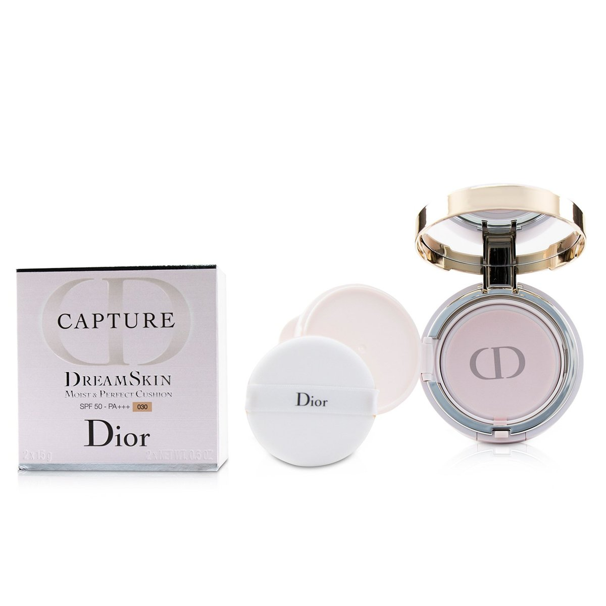 Capture Dreamskin Moist & Perfect Cushion SPF 50 With Extra Refill - # 030 (Medium Beige  -[Parallel