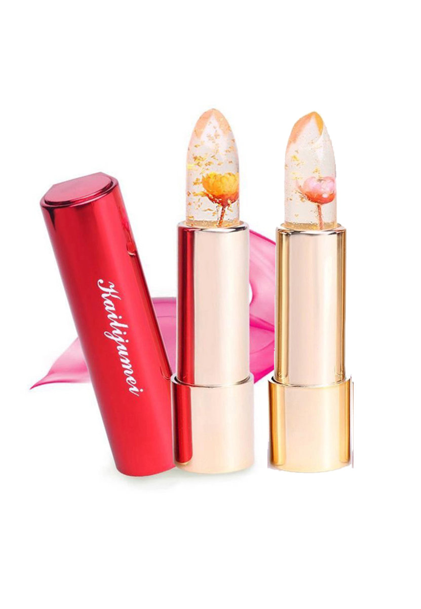 Flower Jelly Lipstick - Barbie Doll Powder and Minute Maid 2 pcs Set