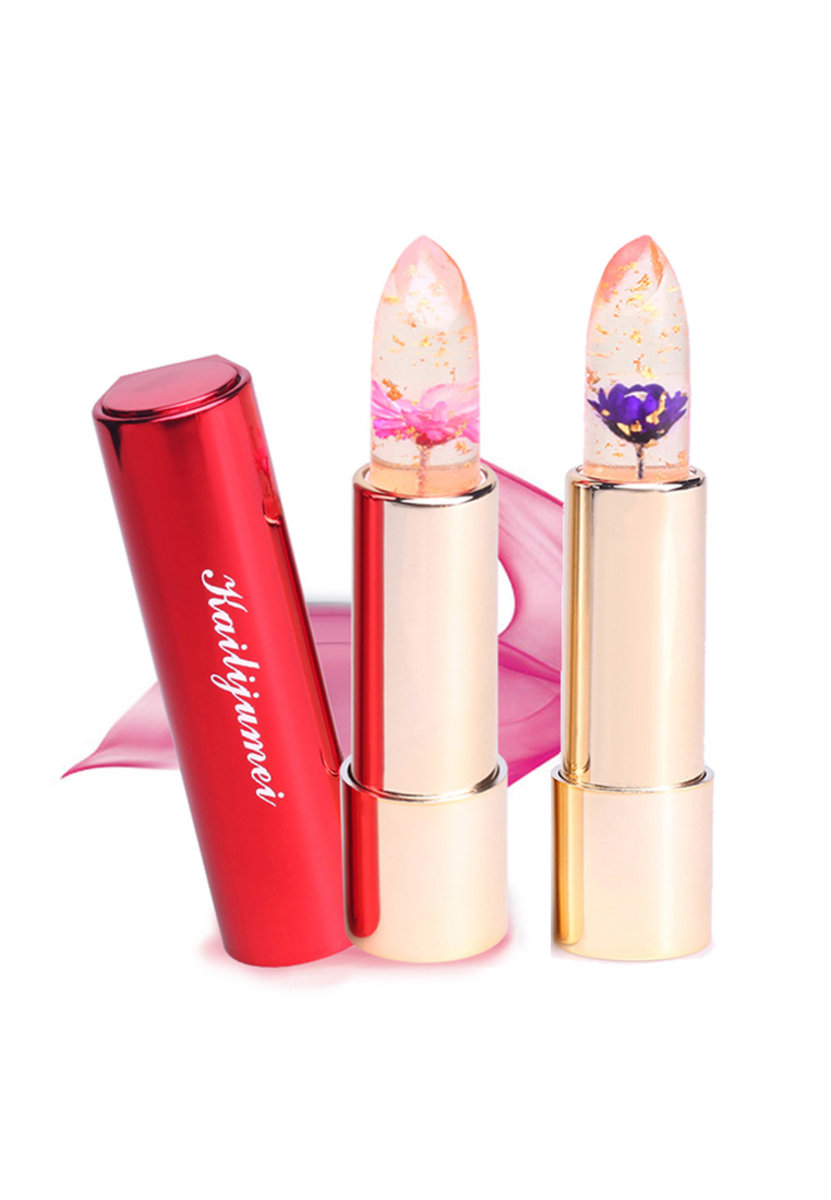 Kailijumei | Flower Jelly Lipstick - Dream Purple and Flame Red 2 pcs Set | HKTVmall Online Shopping
