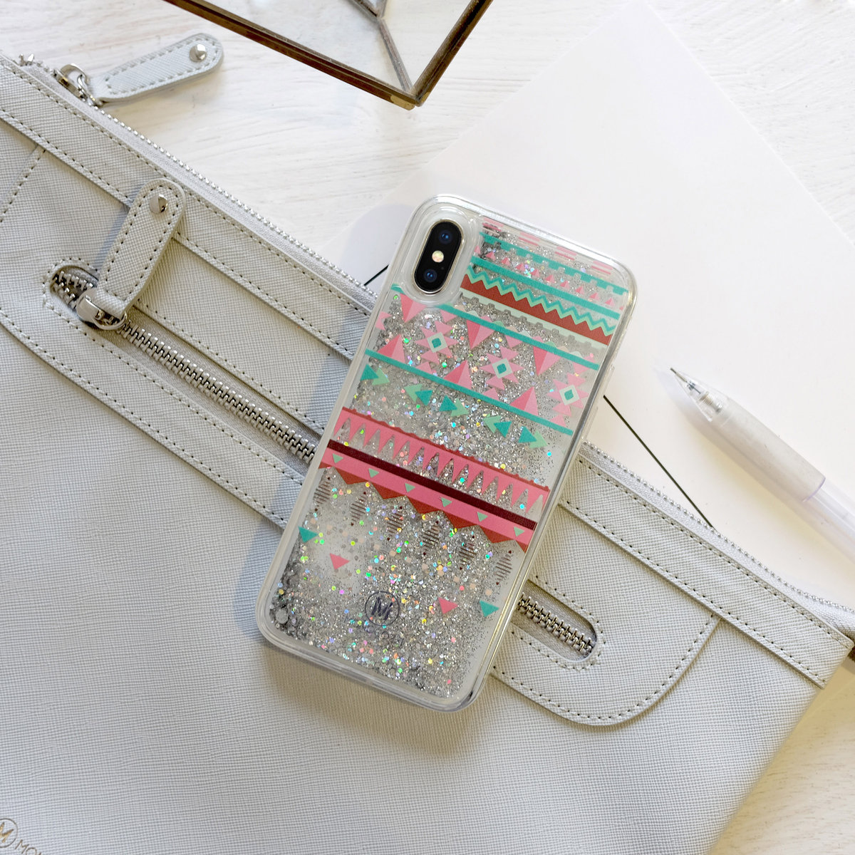 PATTERN LAB | LIQUID GLITTER CASE FOR IPHONE X