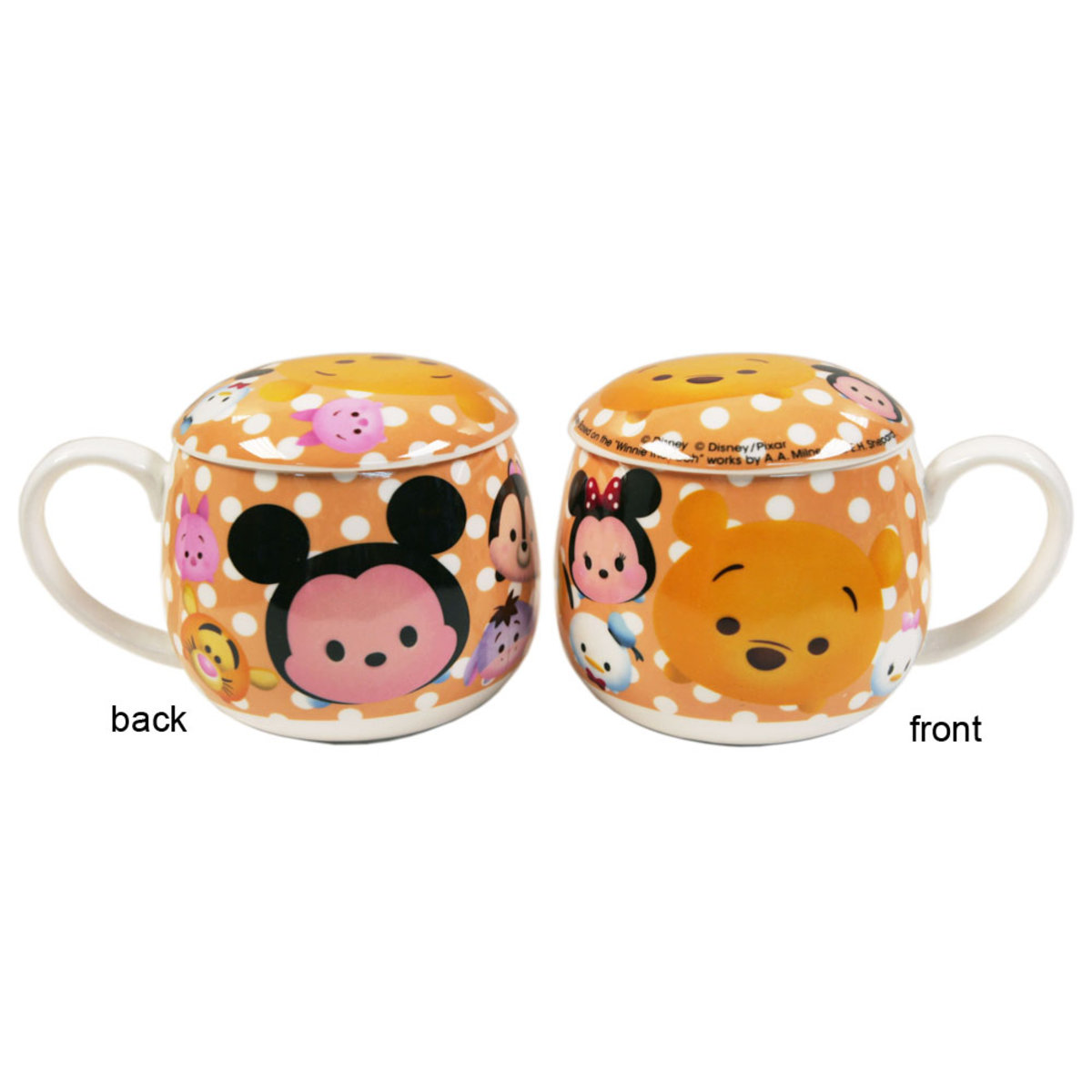Ceramic Mug with Lid (Orange) (Licensed by Disney)