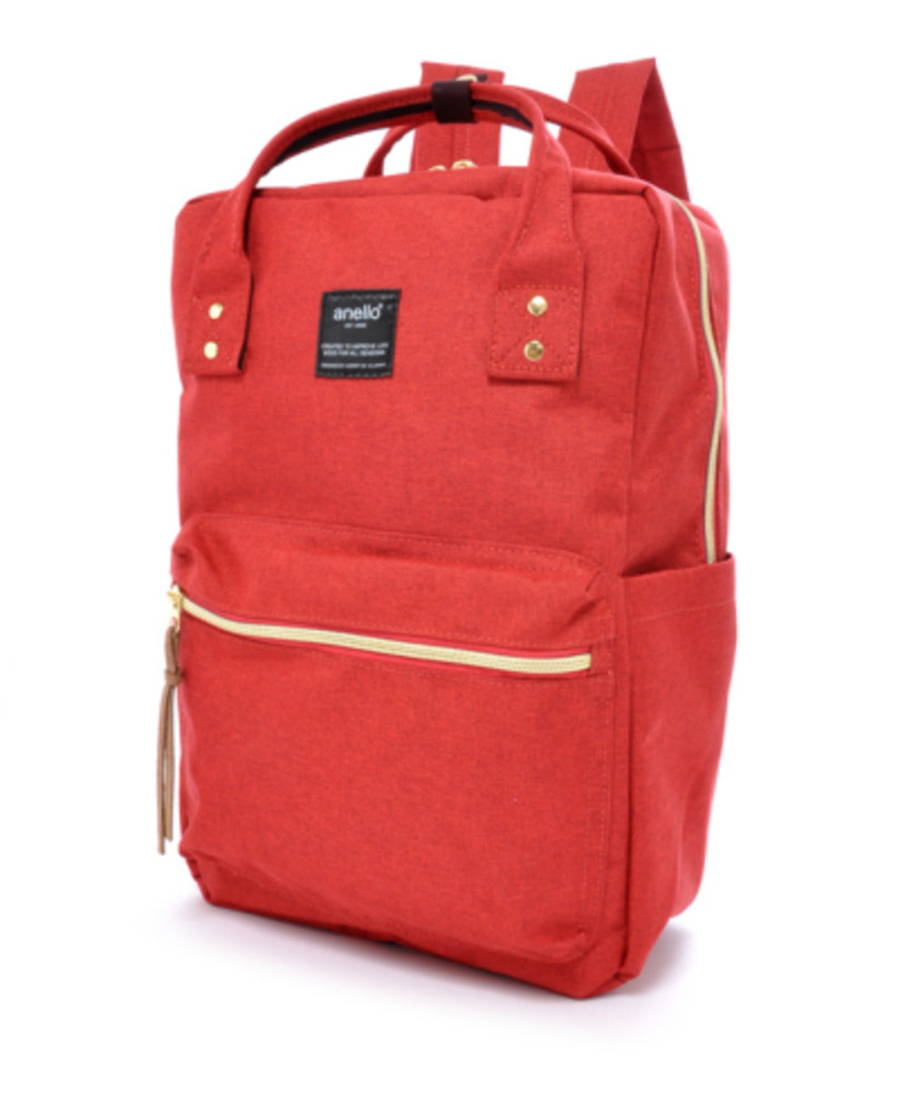 (Red) Japan Anello Classic Square Backpack