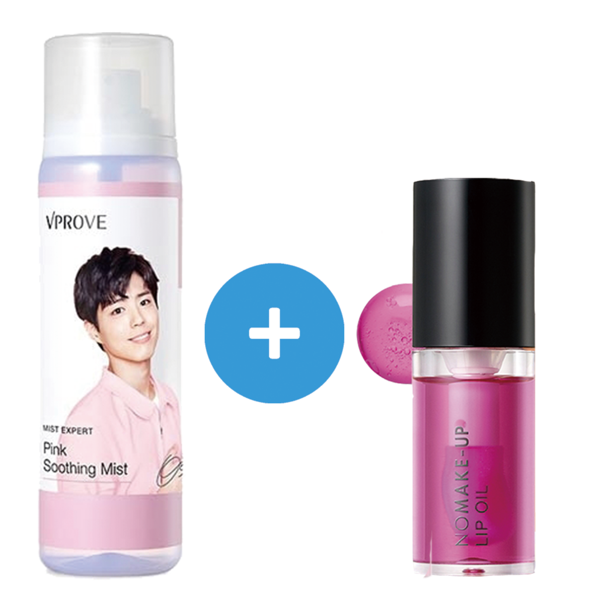 Park Bo Gum Pink Soothing Mist+No Make-up Lip Oil Pink VL01